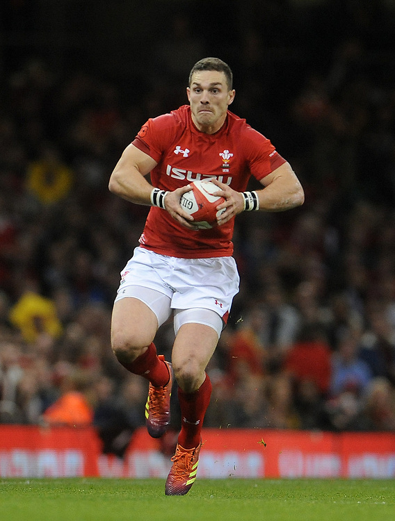 Wales' George North during the game <br /> <br /> Photographer Ian Cook/CameraSport<br /> <br /> Under Armour Series Autumn Internationals - Wales v Australia - Saturday 10th November 2018 - Principality Stadium - Cardiff<br /> <br /> World Copyright © 2018 CameraSport. All rights reserved. 43 Linden Ave. Countesthorpe. Leicester. England. LE8 5PG - Tel: +44 (0) 116 277 4147 - admin@camerasport.com - www.camerasport.com