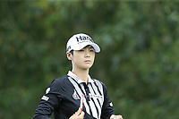 Sung Hyun Park (KOR) walks off the 9th tee during Thursday's Round 1 of The Evian Championship 2018, held at the Evian Resort Golf Club, Evian-les-Bains, France. 13th September 2018.<br /> Picture: Eoin Clarke | Golffile<br /> <br /> <br /> All photos usage must carry mandatory copyright credit (© Golffile | Eoin Clarke)