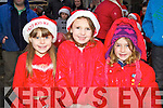 Pictured at the Santa parade in Listowel on Sunday were l-r: Triona Kennedy, Emily Costello and Lauren Molyneaux..