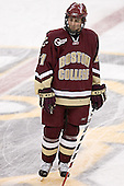 Benn Ferriero - The Boston University Terriers defeated the Boston College Eagles 2-1 in overtime in the March 18, 2006 Hockey East Final at the TD Banknorth Garden in Boston, MA.