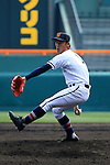 Daiki Ura (),<br /> MARCH 31, 2016 - Baseball :<br /> 88th National High School Baseball Invitational Tournament final game between Takamatsu Shogyo 1-2 Chiben Gakuen at Koshien Stadium in Hyogo, Japan. (Photo by Katsuro Okazawa/AFLO)