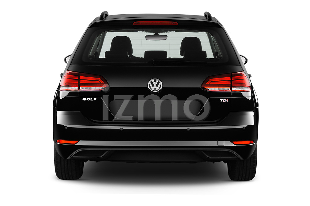 Straight rear view of 2017 Volkswagen Golf-Variant Trend-Line 5 Door Wagon Rear View  stock images
