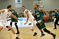 LEEK - Basketbal, Donar - Le Portel, Europe Cup, seizoen 2017-2018, 18-10-2017,  Le Portel speler Jessie Begarin met Donar speler Drago Pasalic