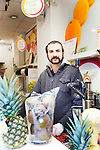 Istanbul - Turkey - 04 February 2015 -- Young entrepreneurs. -- Bilal Kandemir, 32, a fruit juice seller, poses for a portrait  -- PHOTO: Agata SKOWRONEK / EUP-IMAGES