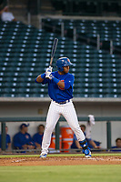 AZL Cubs Nelson Velazquez (20) bats during a game against the AZL Athletics on August 9, 2017 at Sloan Park in Mesa, Arizona. AZL Athletics defeated the AZL Cubs 7-2. (Zachary Lucy/Four Seam Images)