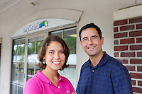 NEW HOPE, PA - JULY 25:   Geoff Cook and his sister Catherine Cook pose for a photograph at their MyYearbook.com headquarters July 25, 2011 in New Hope, Pennsylvania. A publicly-traded Latino social network, Quepasa, announced its $100 million acquisition of MyYearbook last week. The majority of the deal, $82 million, is Quepasa common stock. The other $18 million is cash. (Photo by William Thomas Cain/Cain Images)