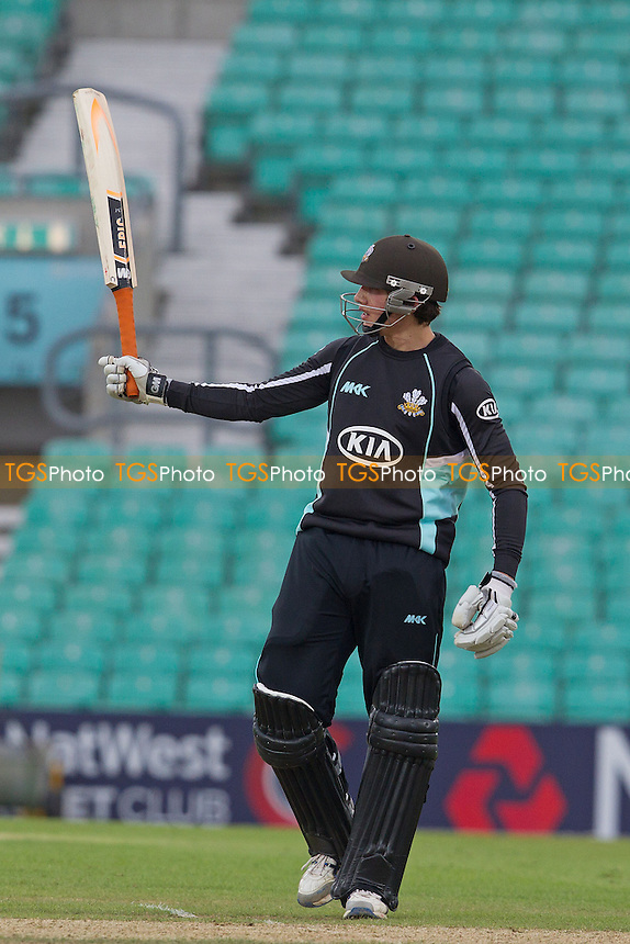 Zafar Ansari acknowledges his maiden 40 over half century - Surrey Lions vs Durham Dynamos - Clydesdale Bank CB40 Cricket at The Kia Oval, London - 20/05/12 - MANDATORY CREDIT: Ray Lawrence/TGSPHOTO - Self billing applies where appropriate - 0845 094 6026 - contact@tgsphoto.co.uk - NO UNPAID USE.