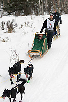 Mark Stamm w/Iditarider on Trail 2005 Iditarod Ceremonial Start near Campbell Airstrip Alaska SC