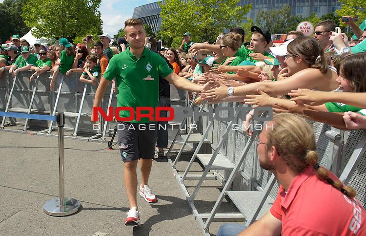 28.07.2013, Weserstadion, Bremen, GER, 1.FBL, Werder Bremen Tag der Fans 2013, im Bild Tom Trybull (Bremen #25)<br /> <br /> Foto &copy; nph / Frisch