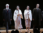Tom Nelis, Adina Verson, Katrina Lenk, Richard Topal  during the Broadway Opening Night Performance Curtain Call Bows for  'Indecent' at The Cort Theatre on April 18, 2017 in New York City.