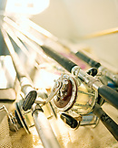 USA, Florida, fishing rods and reels,  close-up, Destin