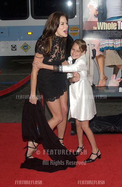 Actresses BROOKE BURNS (left) & TALLULAH BELLE WILLIS at the world premiere, in Hollywood, of Bruce Willis' new movie The Whole Ten Yards..April 7, 2004