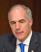 "United States Senator Bob Casey (Democrat of Pennsylvania) asks a question during testimony before the United States Senate Committee on Aging hearing on ""Valeant Pharmaceuticals' Business Model: the Repercussions for Patients and the Health Care System"" on Capitol Hill in Washington, DC on Wednesday, April 27, 2016.  Valeant raised the price of four life-saving drugs: Isuprel by about 720 percent; Nitropress by 310 percent; Cuprimine by 5,878 percent, and Syprine by 3,162 percent after acquiring them in 2015. It is the high prices that are now at the heart of two congressional probes.<br /> Credit: Ron Sachs / CNP"