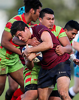 Action during the 1st XV Rugby match between Kings College and Aorere College, Aorere College, Auckland, New Zealand. Saturday 10 June 2017. Photo: Simon Watts/www.bwmedia.co.nz for Kings College