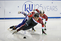 SHORT TRACK: TORINO: 14-01-2017, Palavela, ISU European Short Track Speed Skating Championships, Final B 500m Men, Shaoang Liu (HUN), ©photo Martin de Jong