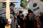 Israel, Jerusalem Old City, the Good Friday procession at the Via Dolorosa,  Easter 2005<br />