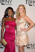 Adrienne Warren and Taylor Louderman at the 66th Annual Tony Awards at The Beacon Theatre on June 10, 2012 in New York City. Credit: RW/MediaPunch Inc.
