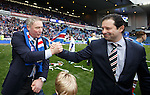 Ally McCoist and Rangers CEO Craig Mather