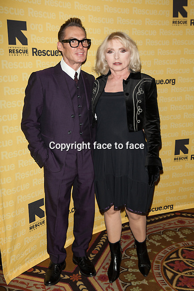 NEW YORK, NY - NOVEMBER 6, 2013: Todd Thomas and Debbie Harry attend the 2013 International Rescue Committee Freedom Award Benefit at The Waldorf Astoria on November 6, 2013 in New York City. <br /> Credit: MediaPunch/face to face<br /> - Germany, Austria, Switzerland, Eastern Europe, Australia, UK, USA, Taiwan, Singapore, China, Malaysia, Thailand, Sweden, Estonia, Latvia and Lithuania rights only -