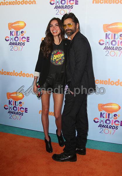 11 March 2017 -  Los Angeles, California - John Stamos, Caitlin McHugh. Nickelodeon's Kids' Choice Awards 2017 held at USC Galen Center. Photo Credit: Faye Sadou/AdMedia