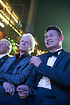 Michael Douglas (left) and Ken Chu during the Opening Ceremony of the the World Celebrity Pro-Am 2016 Mission Hills China Golf Tournament on 20 October 2016, in Haikou, China. Photo by Weixiang Lim / Power Sport Images