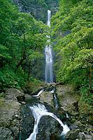 Hanakapiai Falls<br /> Kalalau Trail<br /> Na Pali Coast<br /> Island of Kauai,  Hawaii