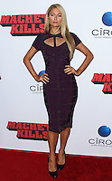 "LOS ANGELES, CA - OCTOBER 02: Paris Hilton arrives at the Premiere Of Open Road Films' ""Machete Kills"" held at Regal Cinemas L.A. Live on October 2, 2013 in Los Angeles, California. (Photo by Xavier Collin/Celebrity Monitor)"