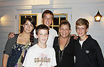 """One Life To Live Kim Zimmer who stars as """"Norma Desmond"""" in Sunset Blvd poses with her niece Elizabeth and nephews Dan, Sam and Alex (L to R) after the show at the Rehearsal Shed on September 2, 2011. The musical is at the Barn Theatre in Augusta, Michigan. Kim has not seen them in 4 years. (Photo by Sue Coflin/Max Photos)"""