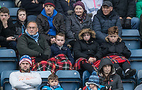 Wycombe supporters during the Sky Bet League 2 match between Wycombe Wanderers and Crawley Town at Adams Park, High Wycombe, England on 25 February 2017. Photo by Andy Rowland / PRiME Media Images.