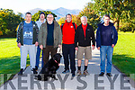 Sean Reidy, Donnacha Crowley, Pat Byrne, David Sharp, James O'Connor and Noel O'Connor with Nema at the Maintain activity though Each Others Support (MATES) walk in Killarney National Park on Saturday