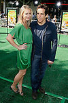 """WESTWOOD, CA. - October 26: Actress Christine Taylor and actor Ben Stiller arrive at the premiere of Dreamworks' """"Madagascar: Escape 2 Africa"""" at the Mann Village Theater on October 26, 2008 in Los Angeles, California."""