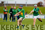 Daniel O'Carroll Ballyduff in action against Shane Conway Lixnaw in the Senior County Hurling Final in Austin Stack Park on Sunday