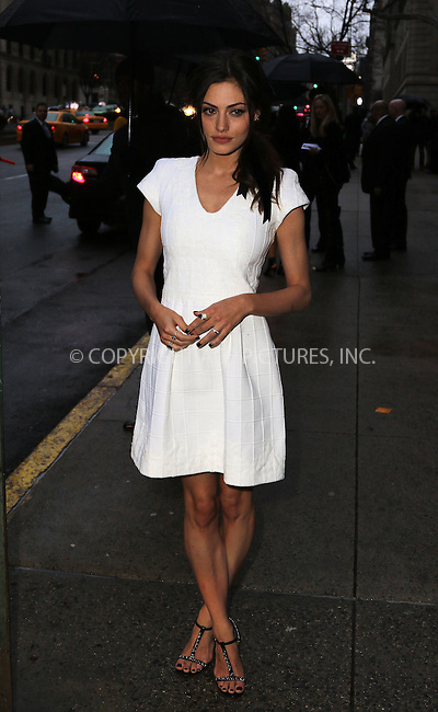 WWW.ACEPIXS.COM<br /> <br /> March 31 2015, New York City<br /> <br /> Phoebe Tonkin arriving at the Chanel Paris-Salzburg 2014/15 Metiers d'Art Collection at the Park Avenue Armory on March 31, 2015 in New York City. <br /> <br /> By Line: Zelig Shaul/ACE Pictures<br /> <br /> ACE Pictures, Inc.<br /> tel: 646 769 0430<br /> Email: info@acepixs.com<br /> www.acepixs.com