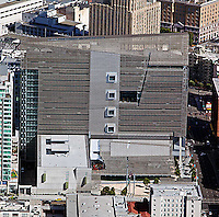 aerial photograph Federal building, 90 7th Street, Civic Center San Francisco, California