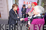 Presidential candidate Dana Rosemary Scallon meets the public at Tralee on Friday.