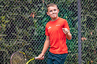 Hilversum, Netherlands, August 8, 2018, National Junior Championships, NJK, Kyvan Rietkerk (NED)<br /> Photo: Tennisimages/Henk Koster