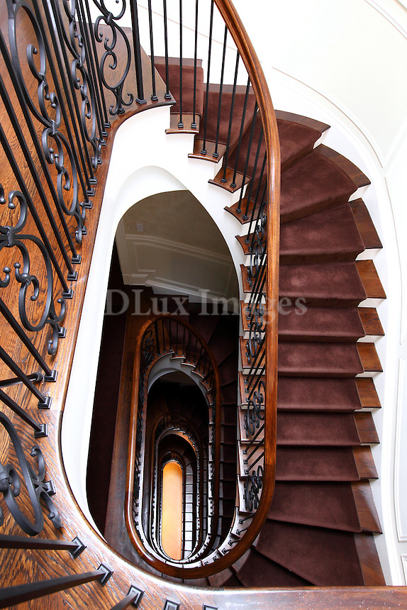 neoclassical spiral staircase