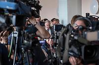 """Pressekonferenz der rechtsnationalistischen Partei Alternative fuer Deutschland (AfD) zum Thema """"Islamische Zuwanderung und Kriminalitaet"""" am Montag den 18. September 2017 in Berlin.<br /> Im Bild: Alexander Gauland.<br /> 18.9.2017, Berlin<br /> Copyright: Christian-Ditsch.de<br /> [Inhaltsveraendernde Manipulation des Fotos nur nach ausdruecklicher Genehmigung des Fotografen. Vereinbarungen ueber Abtretung von Persoenlichkeitsrechten/Model Release der abgebildeten Person/Personen liegen nicht vor. NO MODEL RELEASE! Nur fuer Redaktionelle Zwecke. Don't publish without copyright Christian-Ditsch.de, Veroeffentlichung nur mit Fotografennennung, sowie gegen Honorar, MwSt. und Beleg. Konto: I N G - D i B a, IBAN DE58500105175400192269, BIC INGDDEFFXXX, Kontakt: post@christian-ditsch.de<br /> Bei der Bearbeitung der Dateiinformationen darf die Urheberkennzeichnung in den EXIF- und  IPTC-Daten nicht entfernt werden, diese sind in digitalen Medien nach §95c UrhG rechtlich geschuetzt. Der Urhebervermerk wird gemaess §13 UrhG verlangt.]"""