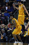 Wyoming's Charles Hankerson (1) looks to pass against Northern Iowa in the 2015 NCAA Division I Men's Basketball Championship March 20, 2015 at the Key Arena in Seattle, Washington.   Northern Iowa beat Wyoming 71 to 54.   ©2015.  Jim Bryant Photo. All Rights Reserved.