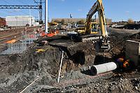 Construction Progress Railroad Station Fairfield Metro Center - Site visit 4 of once per month Chronological Documentation.