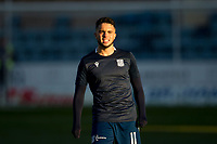 30th November 2019; Dens Park, Dundee, Scotland; Scottish Championship Football, Dundee Football Club versus Queen of the South; Declan McDaid of Dundee during the warm up before the match  - Editorial Use