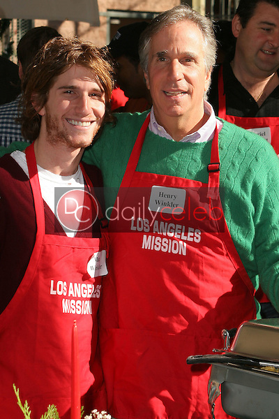 Henry Winkler and his son Max