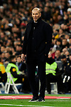 Zinedine Zidane coach of Real Madrid during La Liga match between Real Madrid and Athletic Club de Bilbao at Santiago Bernabeu Stadium in Madrid, Spain. December 22, 2019. (ALTERPHOTOS/A. Perez Meca)