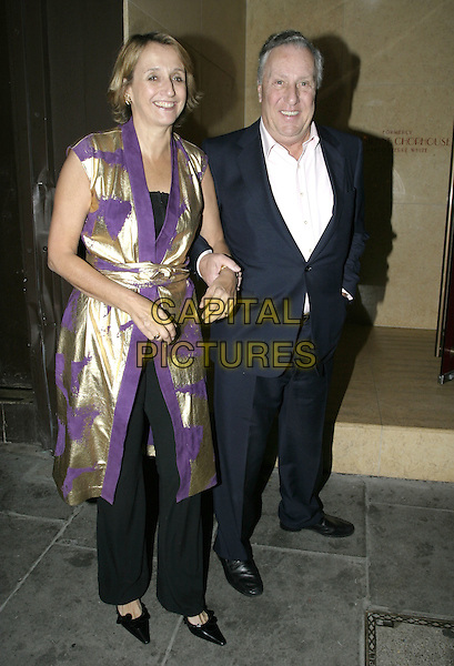 "FREDERICK FORSYTHE.Launch party for Joan Collins' new book, ""Misfortune's Daughters"", Frankies, Yeoman's Row, London, .October 19th 2004..full length .Ref: AH.www.capitalpictures.com.sales@capitalpictures.com.©Capital Pictures."