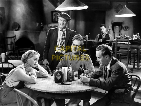 (L to R) Bette Davis, Joe Sawyer, Dick Foran, Humphrey Bogart, Leslie Howard.in The Petrified Forest.*Filmstill - Editorial Use Only*.CAP/PLF.Supplied by Capital Pictures.