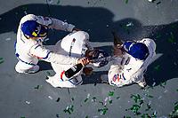 #24 BMW Team RLL BMW M8 GTE, GTLM: John Edwards, Augusto Farfus, Chaz Mostert, Jesse Krohn celebrate