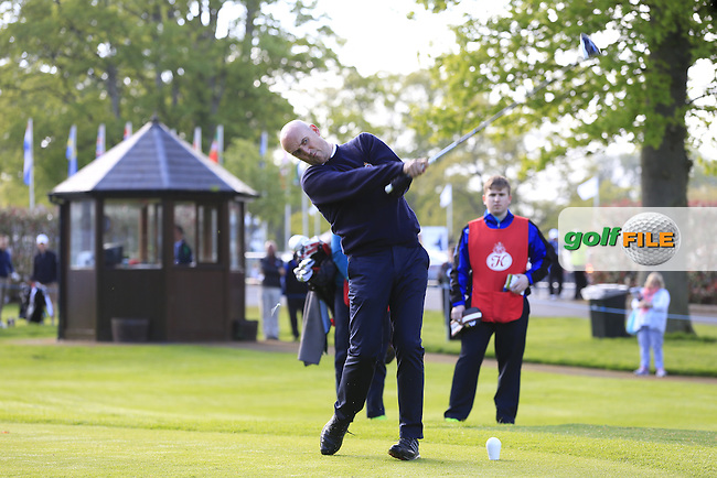 Steve Martin on David Lingmerth's team in action during Wednesday's Pro-Am of the 2016 Dubai Duty Free Irish Open hosted by Rory Foundation held at the K Club, Straffan, Co.Kildare, Ireland. 18th May 2016.<br />