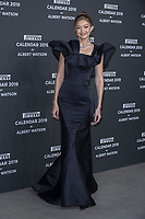 """Gigi Hadid attends the gala night for official presentation of the Presentation of the Pirelli Calendar 2019 """"The cal"""" held at the Hangar Bicocca. Milan (Italy) on december 5, 2018. Credit: Action Press/MediaPunch ***FOR USA ONLY***"""
