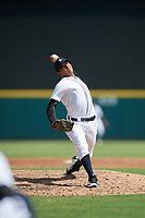 Detroit Tigers pitcher Cleiverth Perez (86) delivers a pitch during a Florida Instructional League game against the Pittsburgh Pirates on October 6, 2018 at Joker Marchant Stadium in Lakeland, Florida.  (Mike Janes/Four Seam Images)