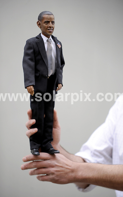 """**ALL ROUND PICTURES FROM SOLARPIX.COM**.**SYNDICATION RIGHTS FOR UK AND SPAIN ONLY**.At the """"Puppenklinik"""" (Doll hospital) in the German town of Neuss a handmade Barack Obama doll is shown. 333 dolls will be produced for sale. Nuess, Germany. 5th November 2008..JOB REF: 7802 CPR (Hartman/dfd) DATE: 05_11_2008.**MUST CREDIT SOLARPIX.COM OR DOUBLE FEE WILL BE CHARGED* *UNDER NO CIRCUMSTANCES IS THIS IMAGE TO BE REPRODUCED FOR ANY ONLINE EDITION WITHOUT PRIOR PERMISSION*"""